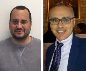 Emmanuel Stiakakis (left), Forschungszentrum Jülich, Germany, and Cristiano de Michele, Sapienza University of Rome, Italy. Copyright: authors.