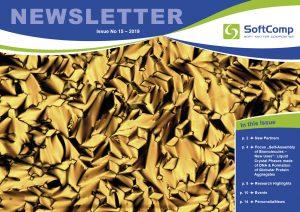 SoftComp Newsletter Issue No 15, published by Forschungszentrum Jülich GmbH, January 2019