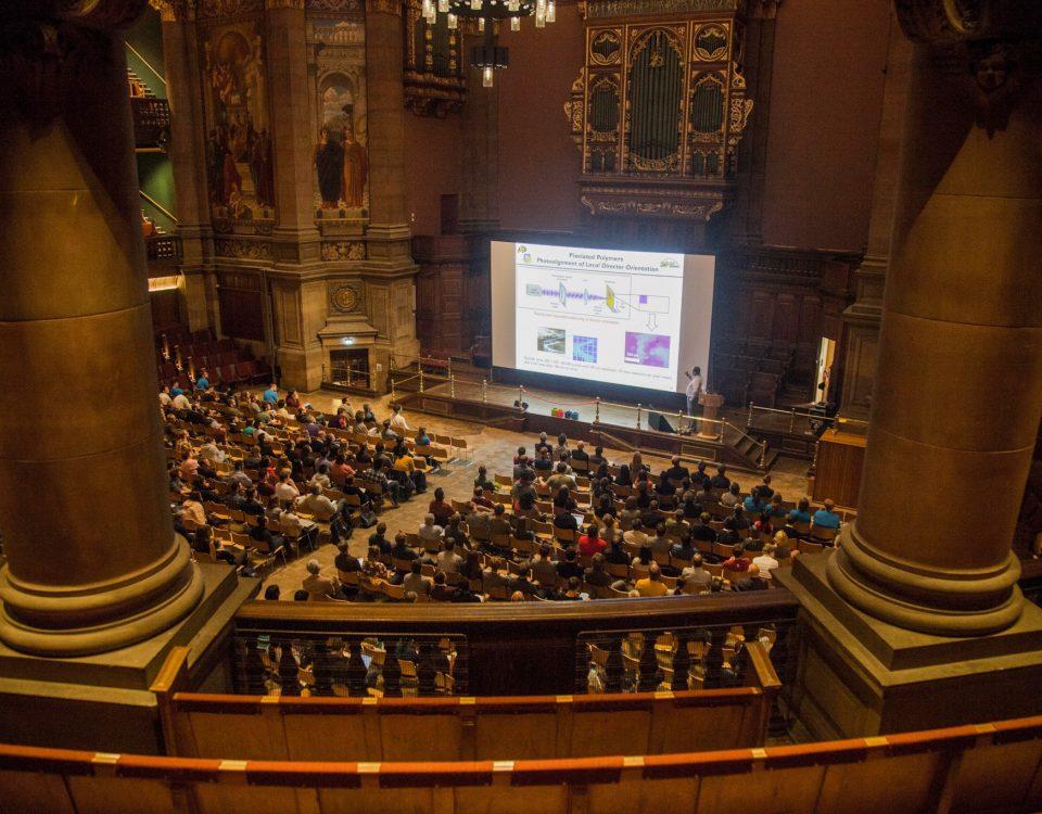 ISMC2019 plenary talks were held in the impressive McEwan Hall. Copyright: University of Edinburgh, Paul Maguire